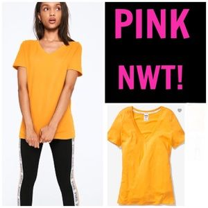 NWT! PINK PERFECT SHORT SLEEVE V-NECK TEE